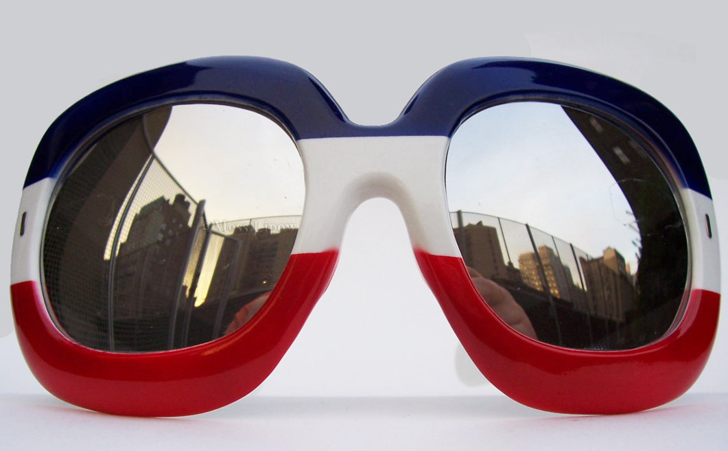 vintage red white and blue sunglasses